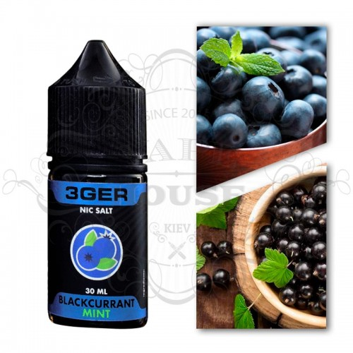 Премиум жидкость 3GER SALT — Blackcurrant Mint
