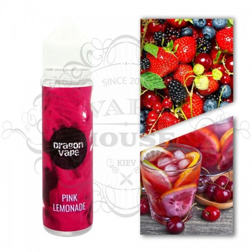 Премиум жидкость DRAGON VAPE — Pink lemonade