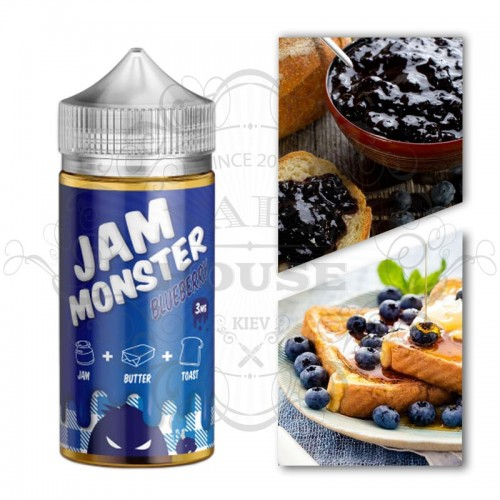Премиум жидкость Jam Monster — BLUEBERRY