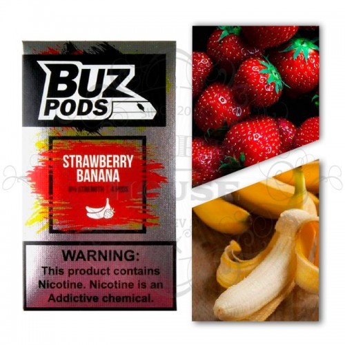 Картридж BUZ Pods — Strawberry Banana - Juul совместимые