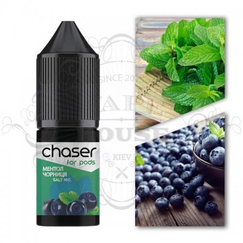 Премиум жидкость Chaser salt — ЧЕРНИКА С МЕНТОЛОМ