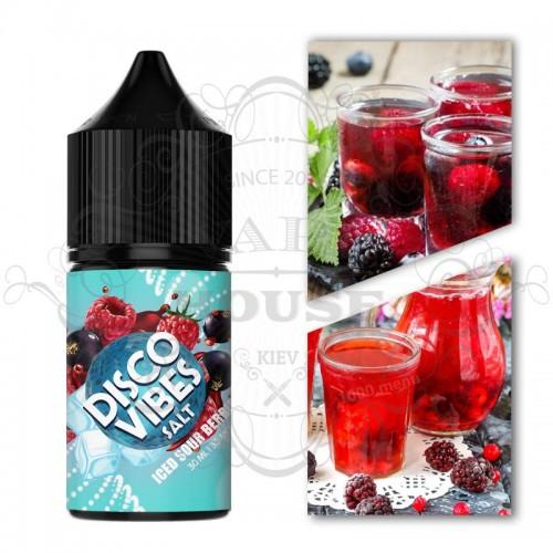 Премиум жидкость Disco Vibes SALTED — Iced Sour Berry