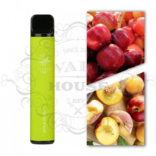 Одноразовая электронная сигарета — ELFBAR 1500 Apple peach