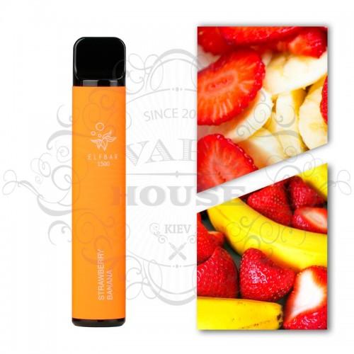 Одноразовая электронная сигарета — ELFBAR 1500 Strawberry Banana