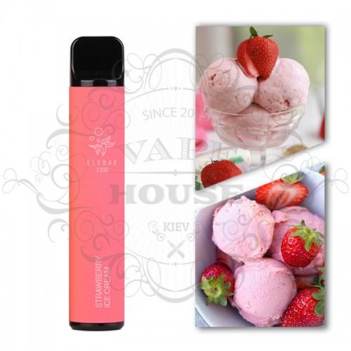 Одноразовая электронная сигарета — ELFBAR 1500 Strawberry Ice Cream