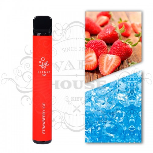 Одноразовая электронная сигарета — ELFBAR 550 Strawberry Ice