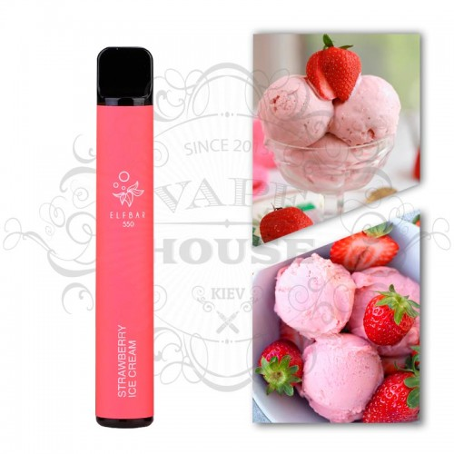 Одноразовая электронная сигарета — ELFBAR 550 Strawberry Ice Cream