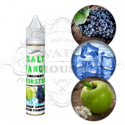 Премиум жидкость Fancy Monster SALT — Cold Apple With Grapes