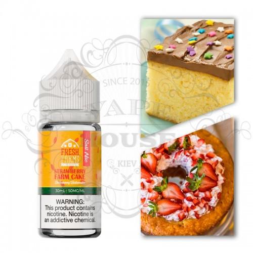 Премиум жидкость — Farms Salt — Strawberry Farm Cake