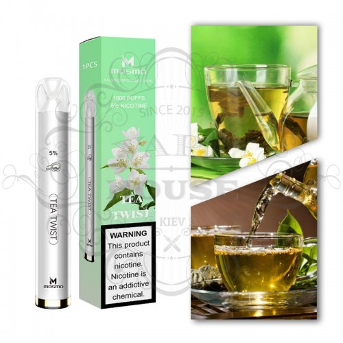 Одноразовая электронная сигарета — Mosmo 1000 Tea Twist