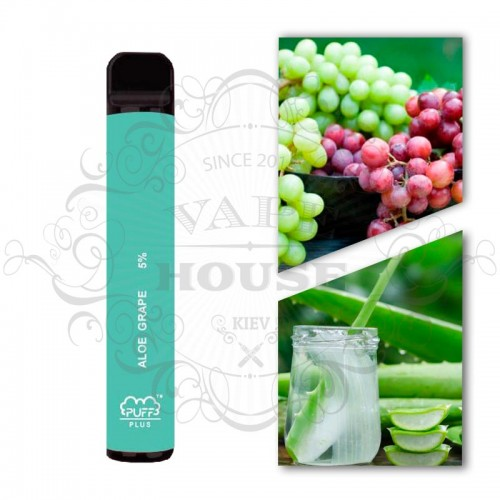 Одноразовая электронная сигарета — Puff Plus Aloe Grape