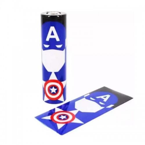 Термоусадка Captain America на аккумулятор 18650