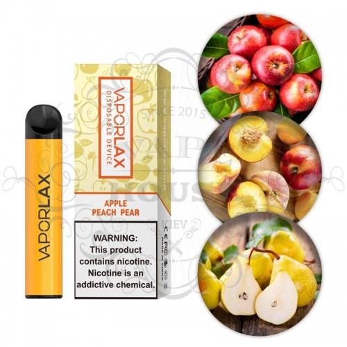 Одноразовая электронная сигарета — Vaporlax 1500 Apple peach pear