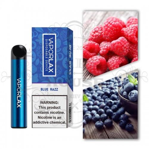 Одноразовая электронная сигарета — Vaporlax 1500 Blue Razz