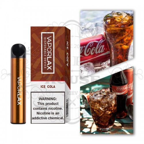 Одноразовая электронная сигарета — Vaporlax 1500 Cola