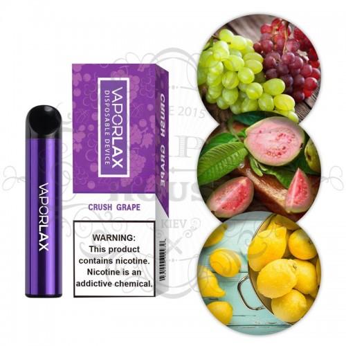 Одноразовая электронная сигарета — Vaporlax 1500 Crush Grape