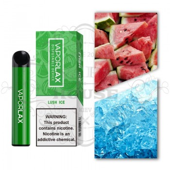 Одноразовая электронная сигарета —  Vaporlax 1500 Lush ice