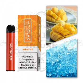 Одноразовая электронная сигарета —  Vaporlax 1500 Mango ice