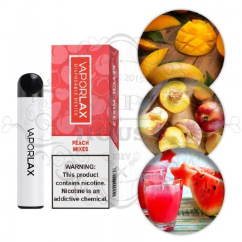 Одноразовая электронная сигарета —  Vaporlax 1500 Peach Mix