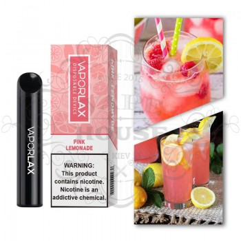 Одноразовая электронная сигарета —  Vaporlax 1500 Pink Lemonade