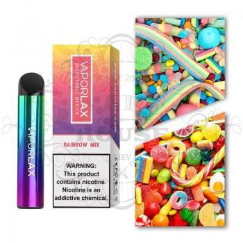 Одноразовая электронная сигарета —  Vaporlax 1500 Rainbow Mix