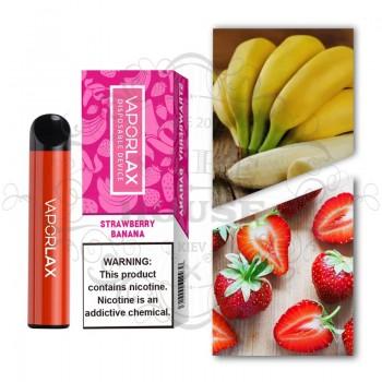 Одноразовая электронная сигарета —  Vaporlax 1500 Strawberry Banana
