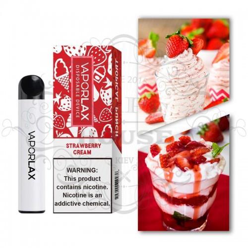 Одноразовая электронная сигарета — Vaporlax 1500 Strawberry Cream