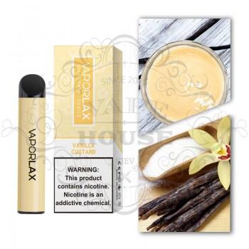 Одноразовая электронная сигарета —  Vaporlax 1500 Vanilla Custard