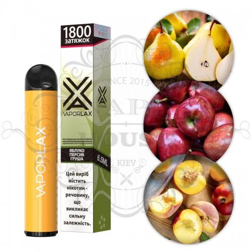 Одноразовая электронная сигарета — Vaporlax 1800 Яблуко персик груша