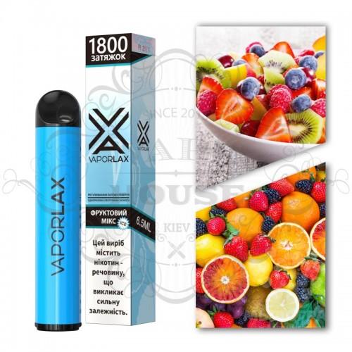 Одноразовая электронная сигарета — Vaporlax 1800 Фруктовий мікс