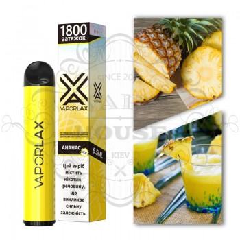 Одноразовая электронная сигарета —  Vaporlax 1800 Ананасовый лимонад