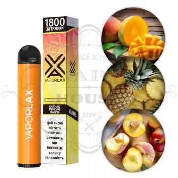 Одноразовая электронная сигарета —  Vaporlax 1800 Ананас персик манго