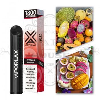 Одноразовая электронная сигарета —  Vaporlax 1800 Тропічні фрукти