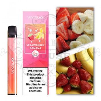 Одноразовая электронная сигарета —  Vaporlax Disposable Mate Banana Strawberry