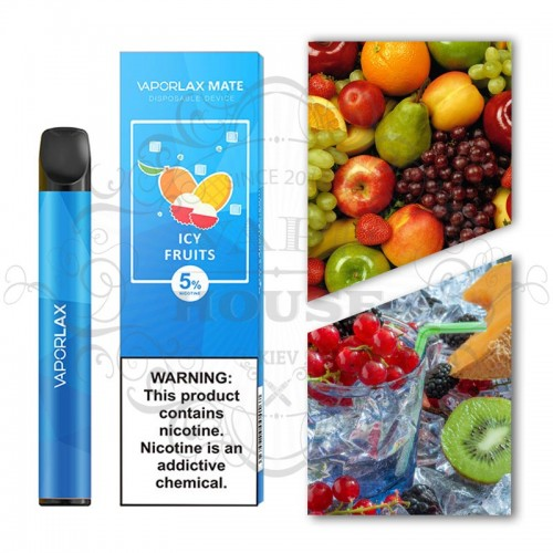Одноразовая электронная сигарета — Vaporlax Disposable Mate Ice Fruits