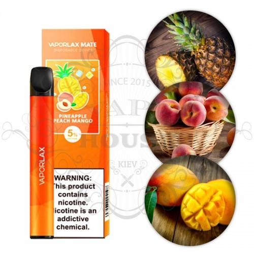 Одноразовая электронная сигарета — Vaporlax Disposable Mate Pineapple peach mango