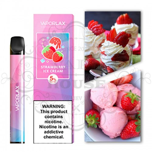 Одноразовая электронная сигарета — Vaporlax Disposable Mate Strawberries Cream
